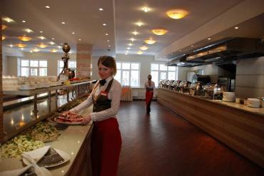 Линия шведского стола на 2 этаже