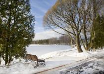 Зимний вид на озеро